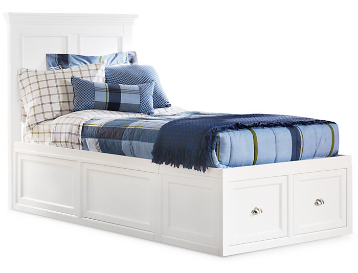 Twin Panel Bed - 1Side Storage, , large