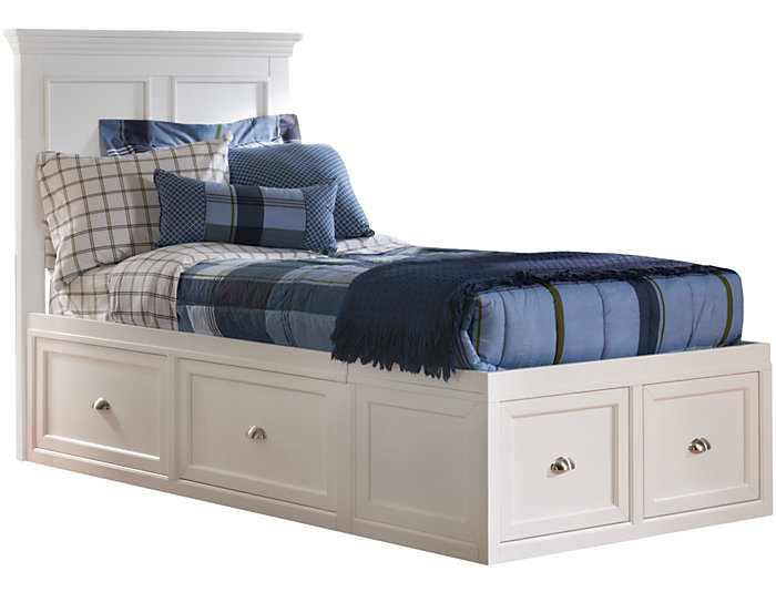 Twin Panel Bed - 2Side Storage, , large