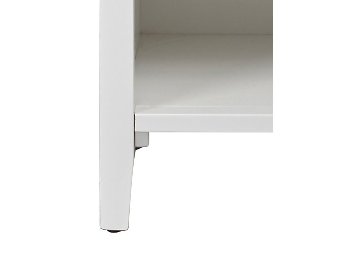 Abbott White 1Dr Nightstand, , large