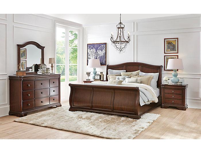 Rochelle II Cherry 9 Drawer Dresser, , large
