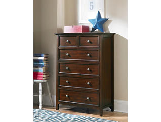 Abbott Cherry Youth 5 Drawer Chest, , large