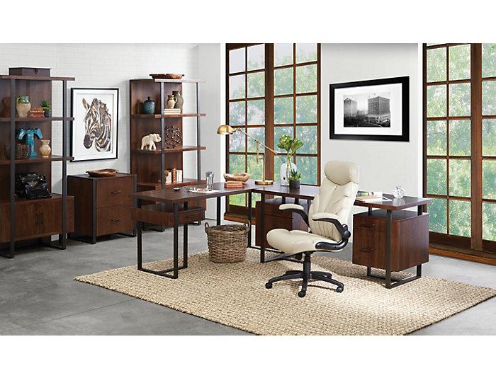 "Terra Vista 71"" Walnut Return Desk, , large"