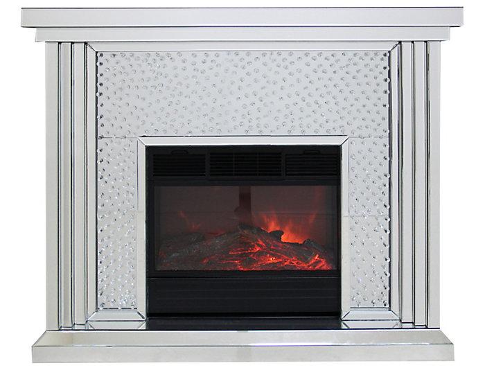 Krystal Mirrored Fireplace, , large