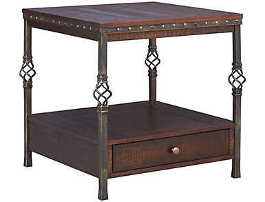 Sterling Walnut Square End Table, , large