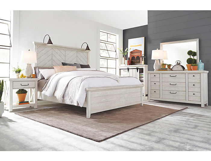 Modern Farmhouse White 9 Drawer Dresser | Art Van Home