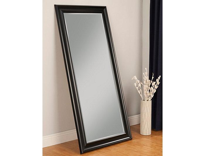 Leaning Black Floor Mirror, , large