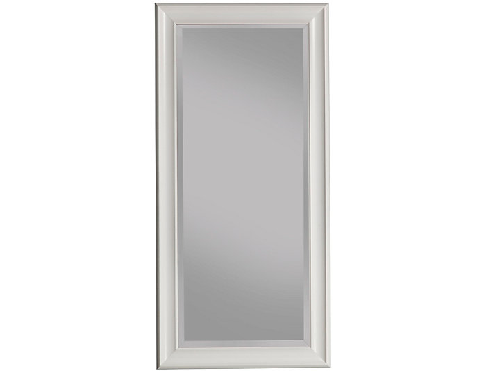Leaning White Floor Mirror, , large