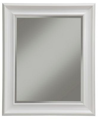 albany white wall mirror