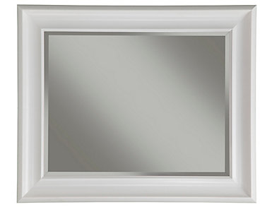 Albany White Wall Mirror, , large