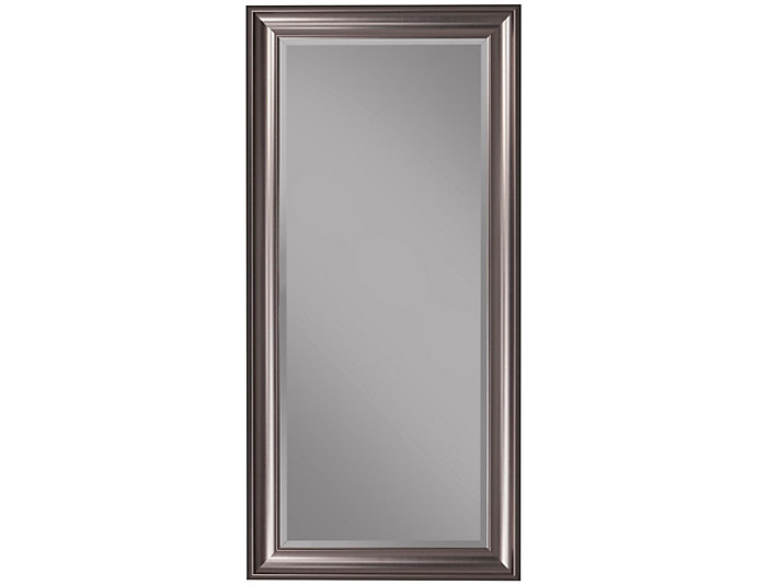Leaning Silver Floor Mirror