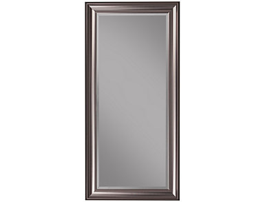Leaning Silver Floor Mirror, , large