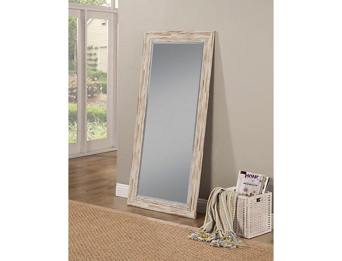 Marin White Leaning Mirror, , large