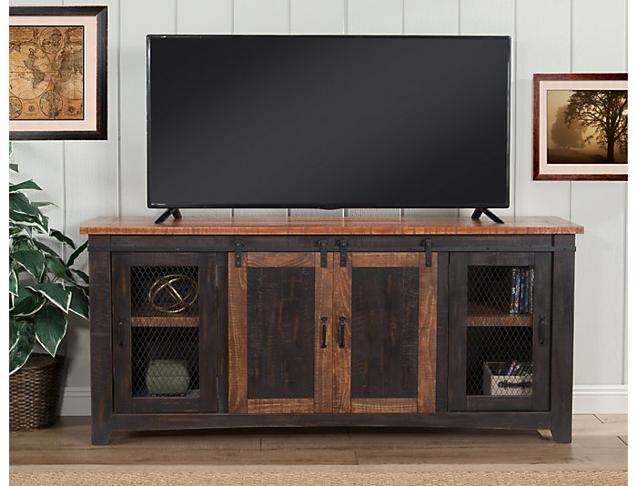 "Taos 65"" Black TV Stand, , large"