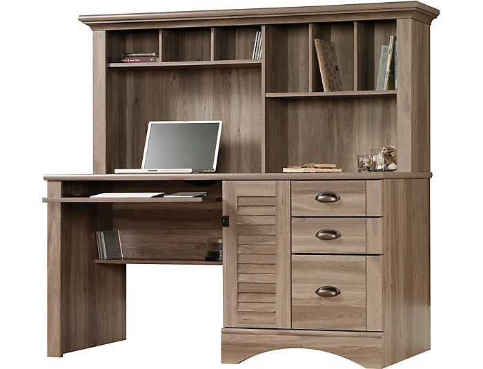 Harbor View Computer Desk with Hutch, , large