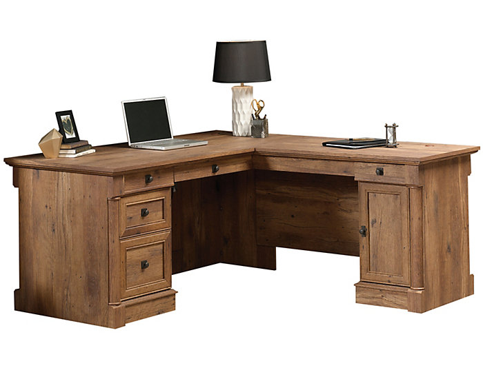 Vine Crest L-Shaped Desk, , large