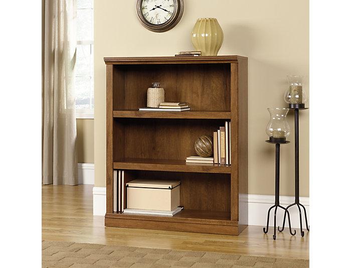 Oak Three Shelf Bookcase, , large