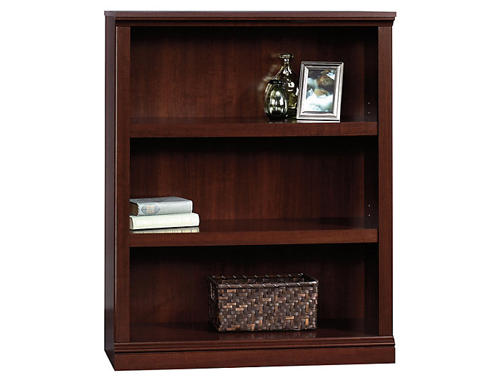 Cherry Three Shelf Bookcase, , large