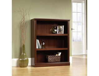 Three Shelf Select Cherry Bookcase, Brown, large