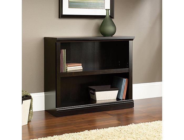 Black Two Shelf Bookcase, , large
