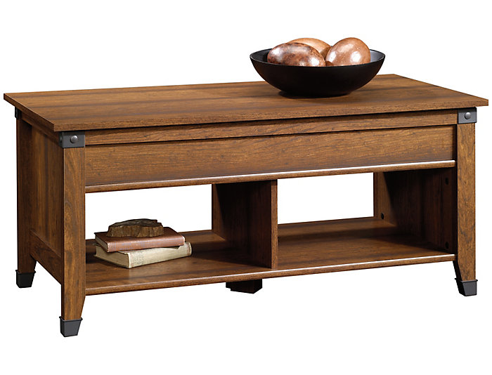 Carson Lift-Top Coffee Table, Cherry, , large