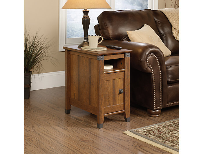 Carson Cherry End Table, Brown, , large