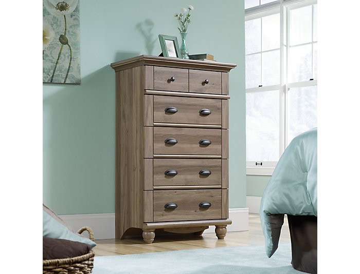 Harbor View Oak 5-Drawer Chest, , large