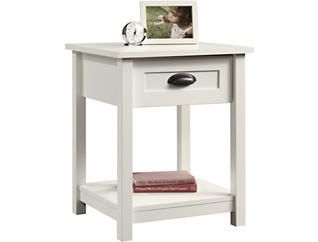 County Line White Nightstand, , large