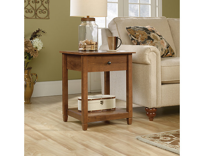 Edge Cherry End Table, Brown, , large