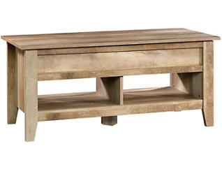 Oak Lift-Top Coffee Table, Taupe, , large