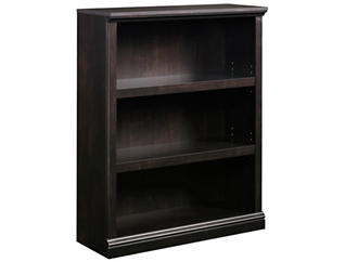 Black Three Shelf Bookcase, , large