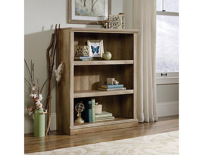 Lintel Oak Three Self Bookcase, , large