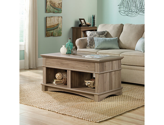 Oak Lift Top Coffee Table, Taupe, , large