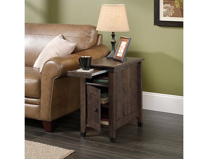 Carson Oak End Table, Brown, , large