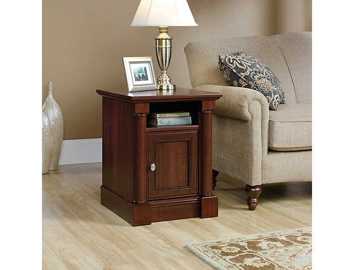 Palladia Cherry End Table, Brown, , large