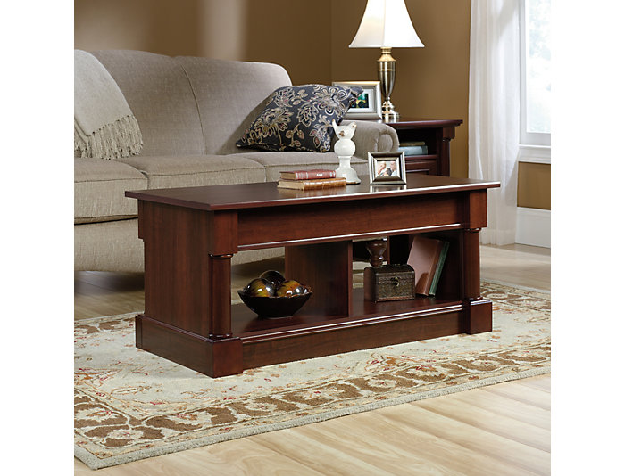 Cherry Lift-Top Coffee Table, Brown, , large