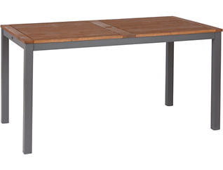Miles 31 x 55 Brown Rectangle Table, , large