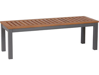 Miles Brown Dining Bench, , large