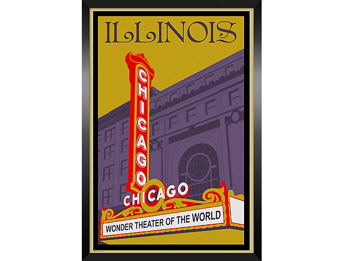 Chicago Theater Framed Print, , large