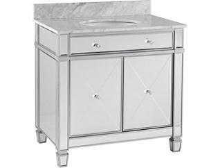 Krystal Mirrored Vanity Sink, , large