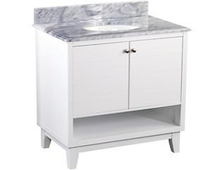 Ridglea White Vanity Sink, , large