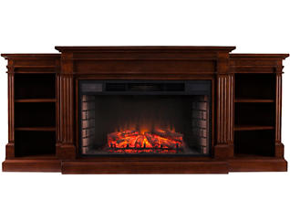 Reese Espresso Fireplace, , large