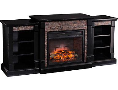 Gallatin Black Fireplace, , large