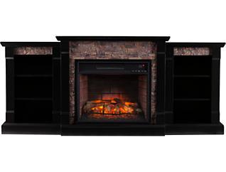 Gallatin Black Fireplace, Black, large