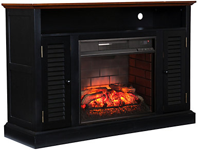 Antebell Black Fireplace, , large