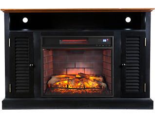 Antebell Black Fireplace, Black, large