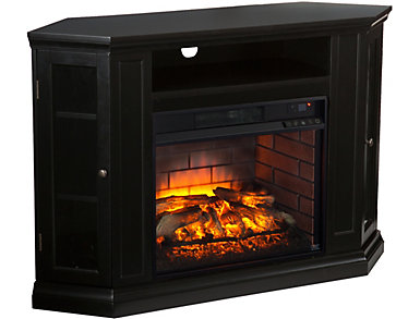 Claremont Black Fireplace, , large