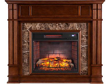 Highgate Maple Fireplace, Brown, large