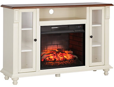 Carlinville White Fireplace, , large