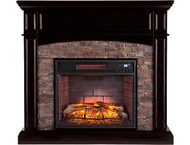 Grantham Ebony Corner Fireplace, , large