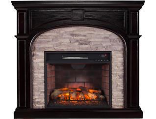 Tanaya Ebony Fireplace, Brown, large